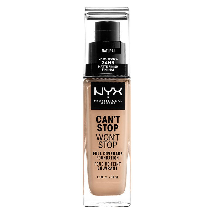 NYX Professional Makeup Can't Stop Won't Stop Full Coverage Foundation Natural 30ml