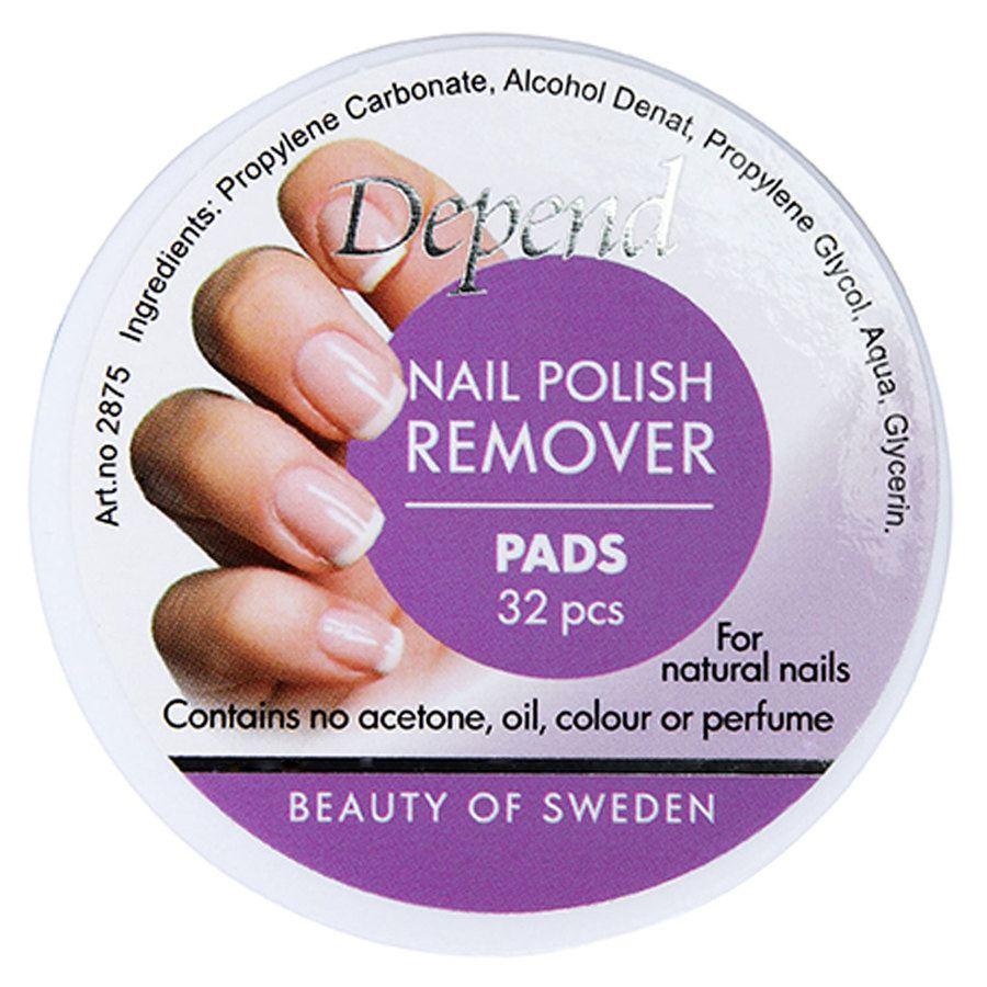 Depend Nail Polish Remover Pads 32 kpl