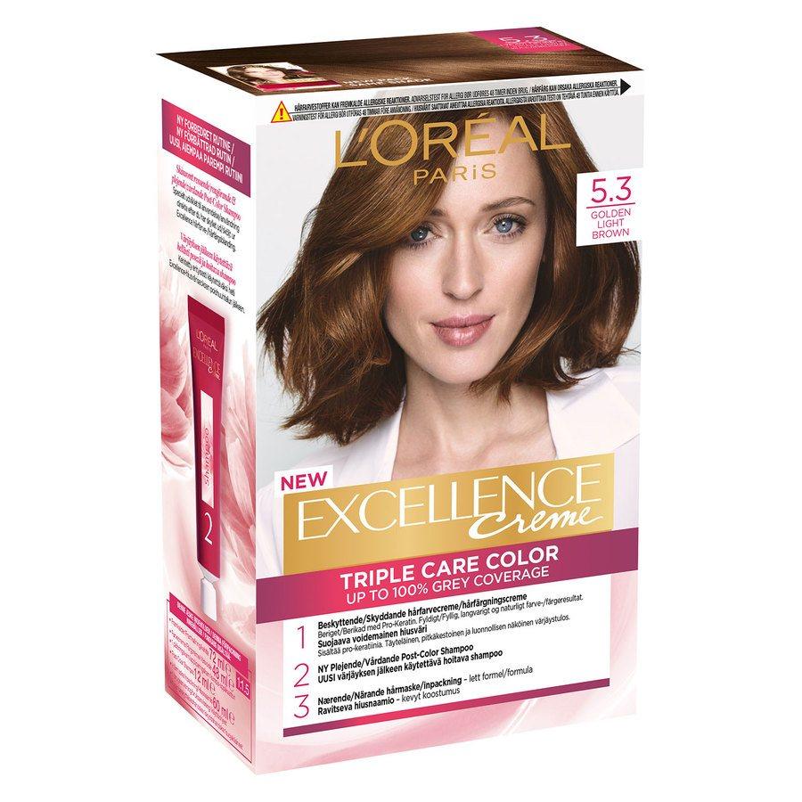 L'Oréal Paris Excellence Creme - 5,3 Light Golden Brown
