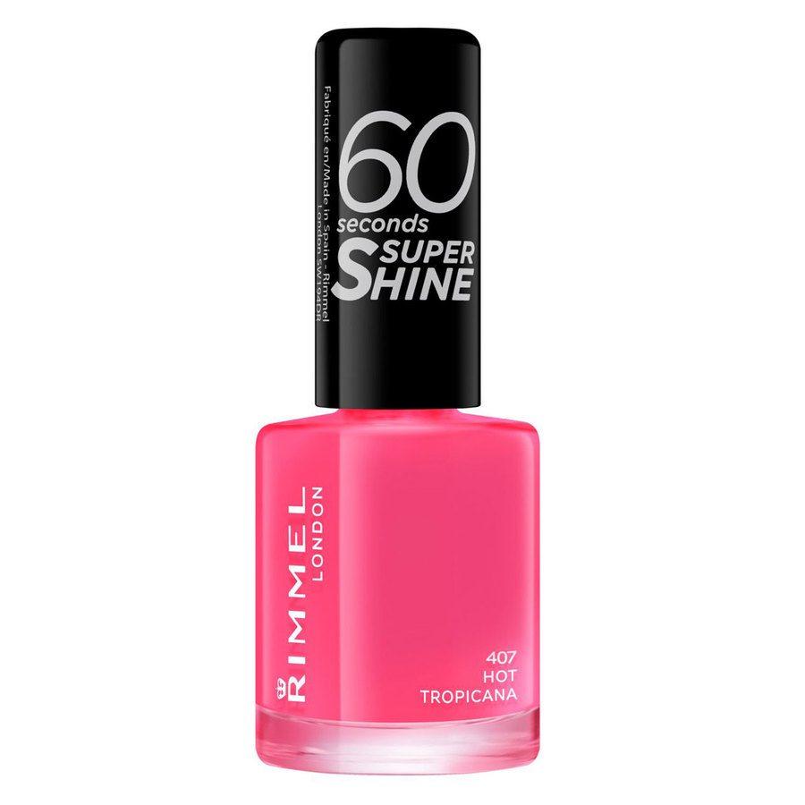 Rimmel London 60 Seconds Super Shine Nail Polish 8 ml ─ #407 Hot Tropicana