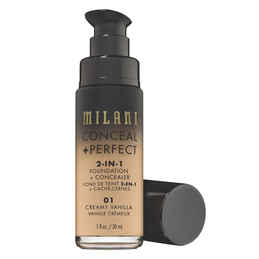 Milani Conceal + Perfect 2-In-1 Foundation + Concealer 30ml – Creamy Vanilla