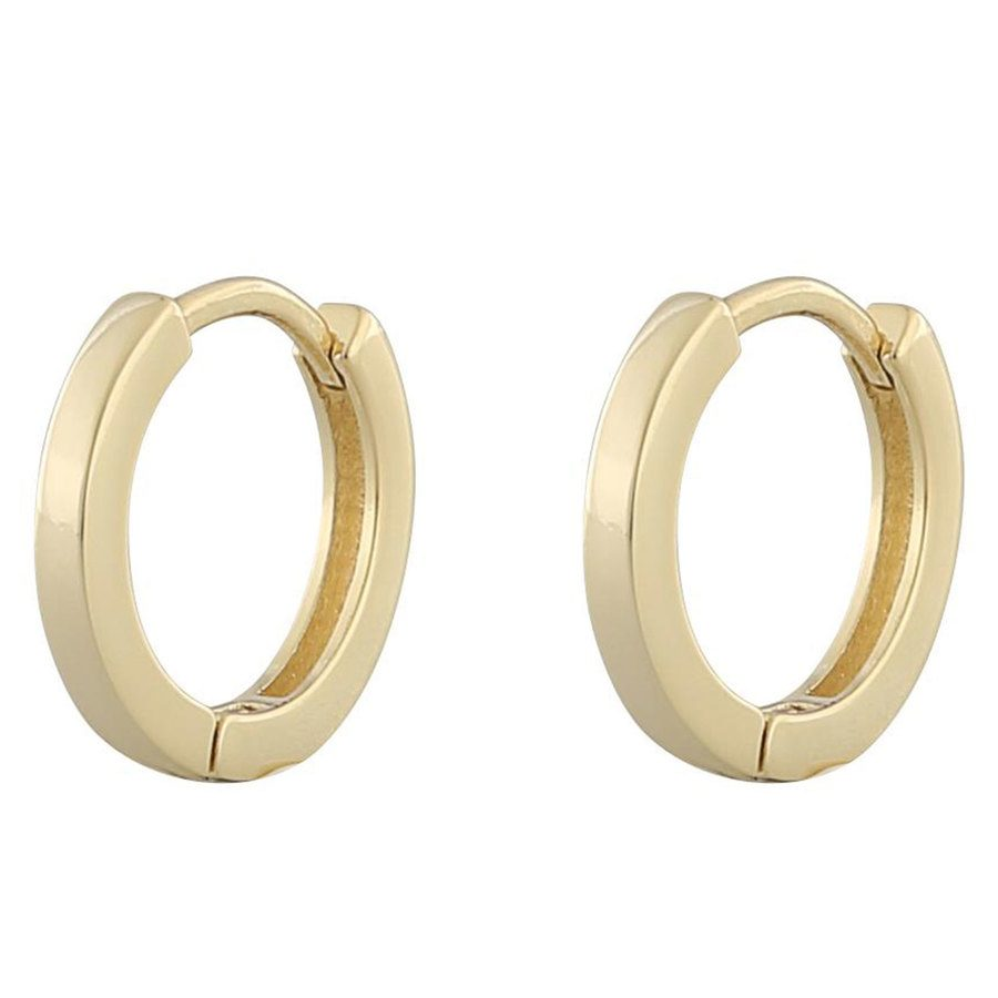 Snö Of Sweden Anchor Small Ring Earring ─ Plain Gold