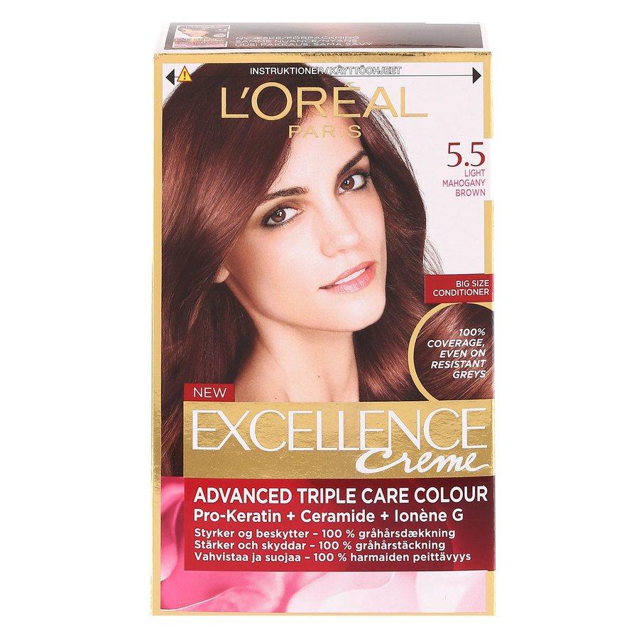 L'Oréal Paris Excellence Creme - 5,5 Light Mahogany Brown