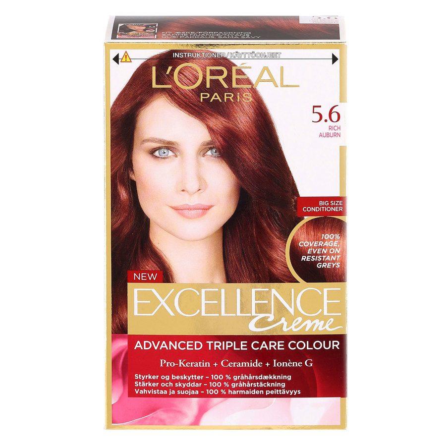 L'Oréal Paris Excellence Creme - 5,6 Rich Auburn