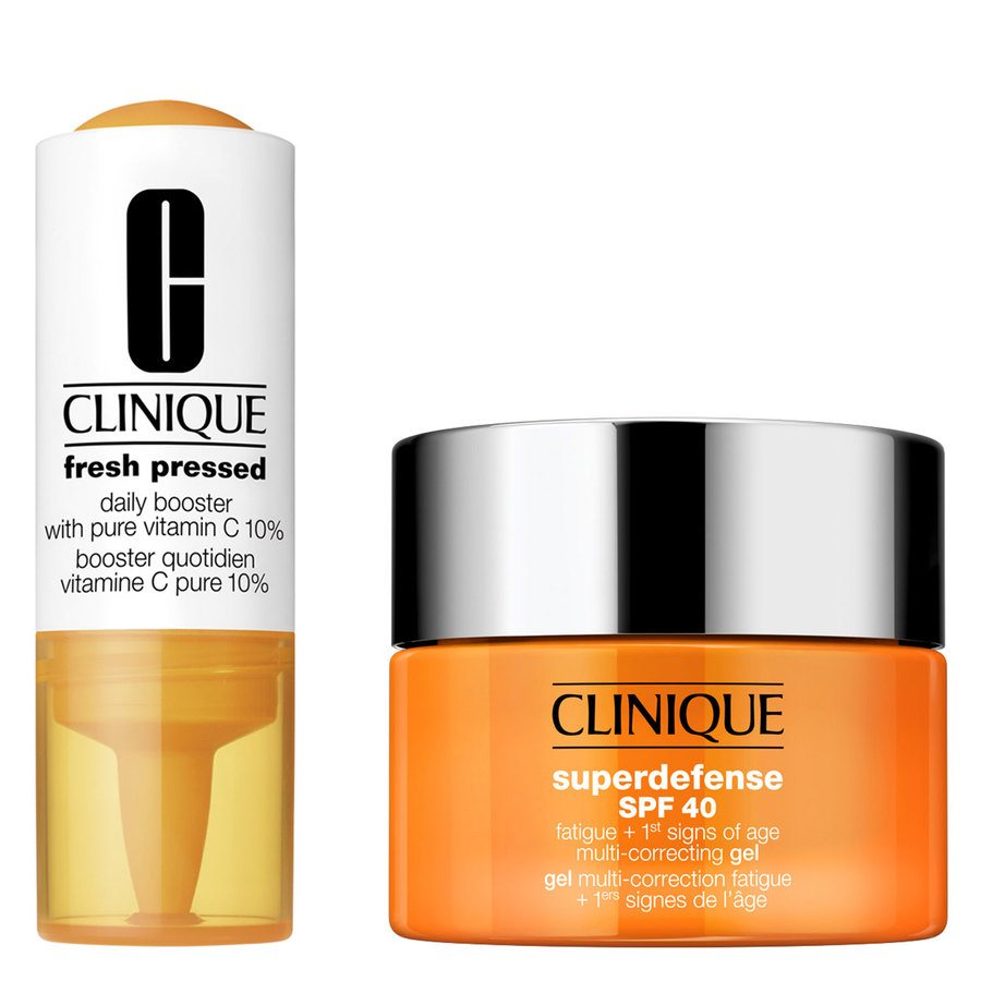 Clinique Fresh Pressed 7-Day Recharge System: Daily Booster With Vitamin C 10% + Superdefense Gel