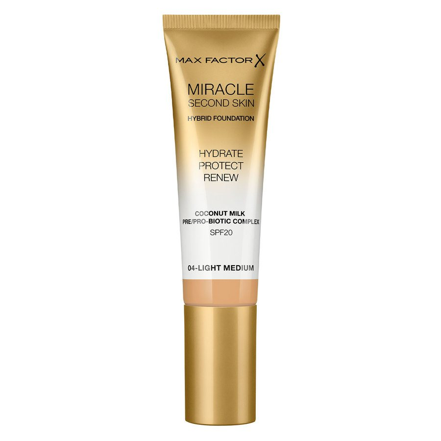 Max Factor Miracle Second Skin Foundation 33 ml ─ #004 Light Medium