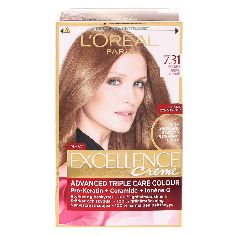 L'Oréal Paris Excellence Creme - 7,31 Golden Beige Blonde