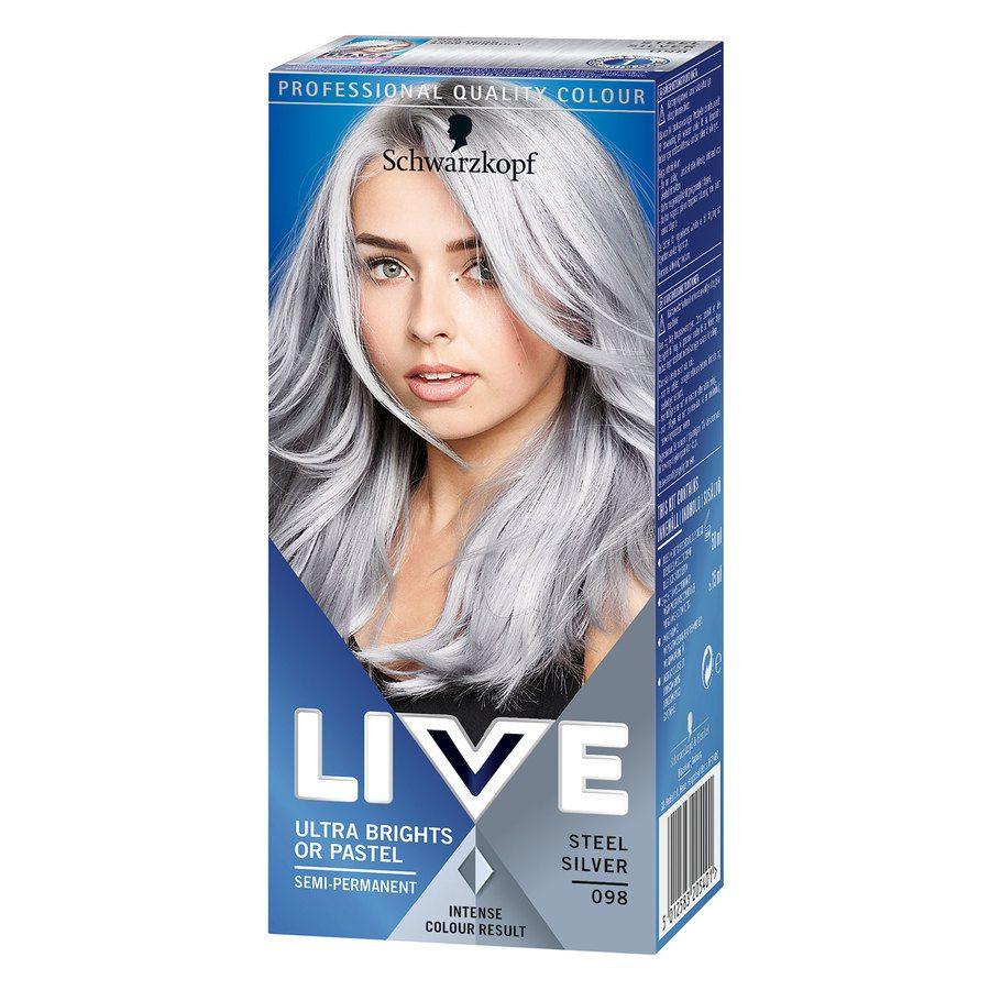 Schwarzkopf Live Ultra Bright – 98 Steel Silver