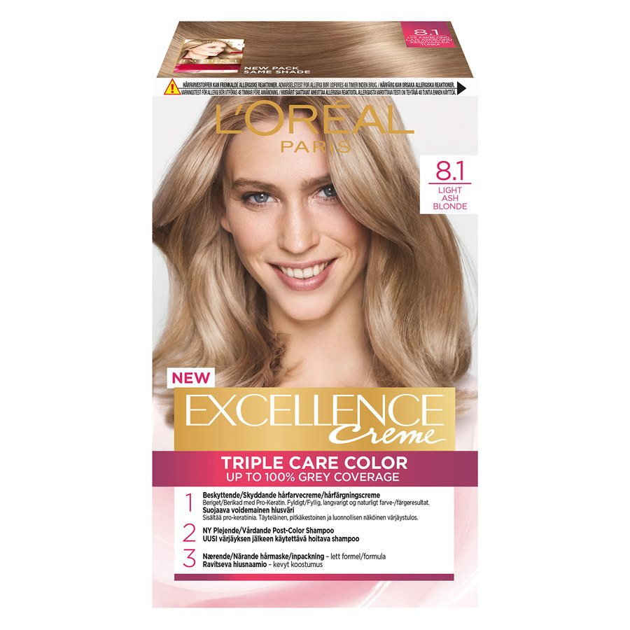 L'Oréal Paris Excellence Creme - 8,1 Light Ashy Blonde