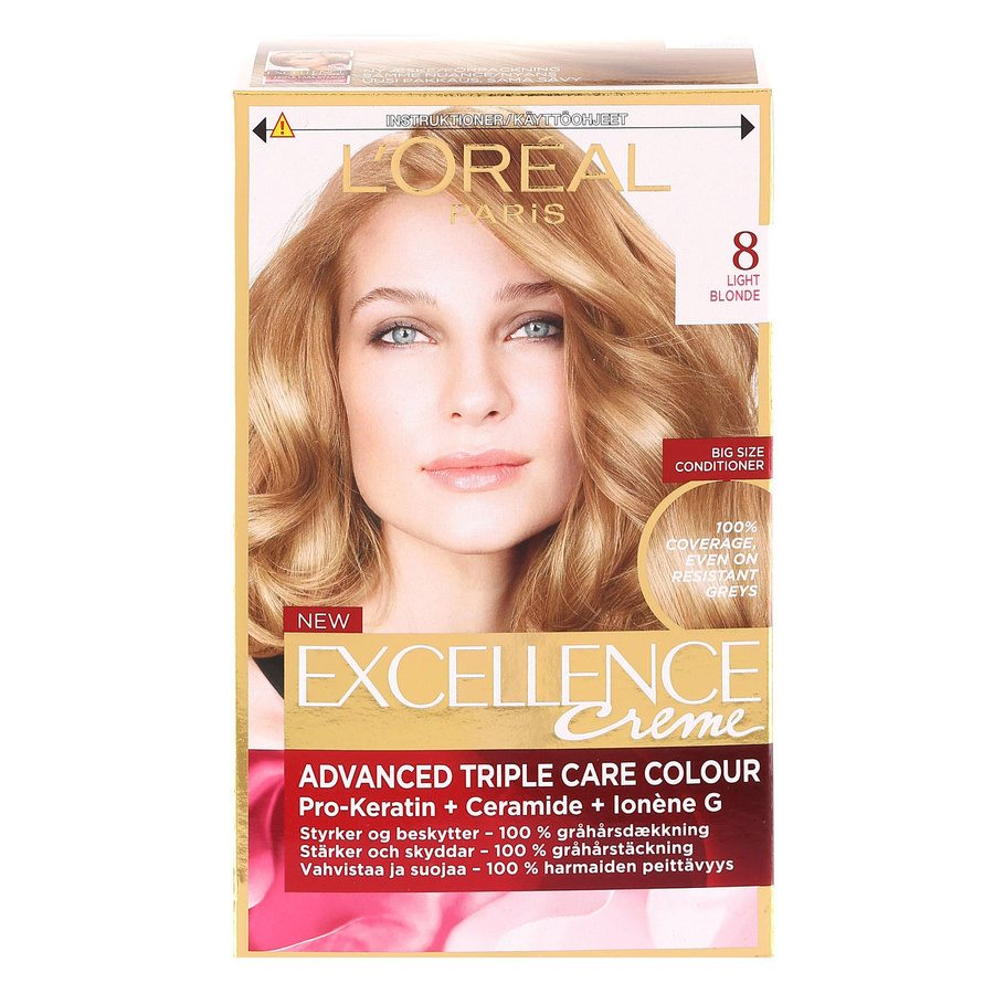L'Oréal Paris Excellence Creme - 8 Light Blonde