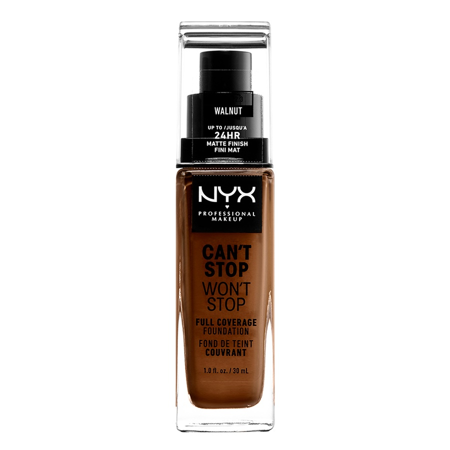 NYX Professional Makeup Can't Stop Won't Stop Full Coverage Foundation Walnut 30ml