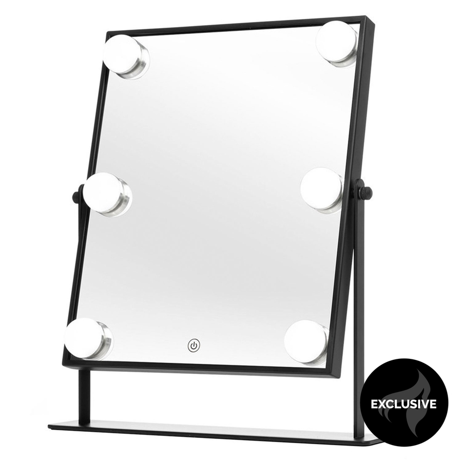 Shelas 6 LED Hollywood Meikkipeili 250 x 350 mm - Musta