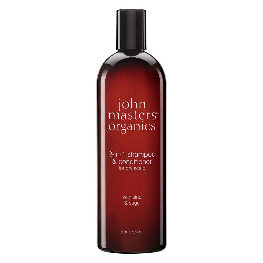 John Masters Organics Zinc & Sage Shampoo with Conditioner 1000ml