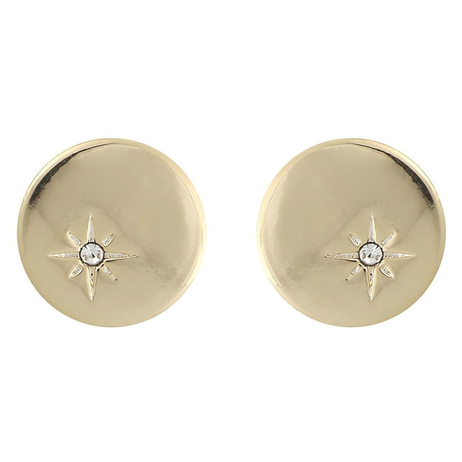 Snö Of Sweden Feliz Small Coin Earring ─ Gold/Clear