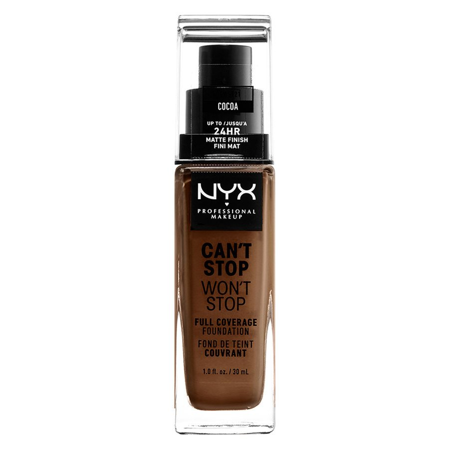 NYX Professional Makeup Can't Stop Won't Stop Full Coverage Foundation Cocoa 30ml