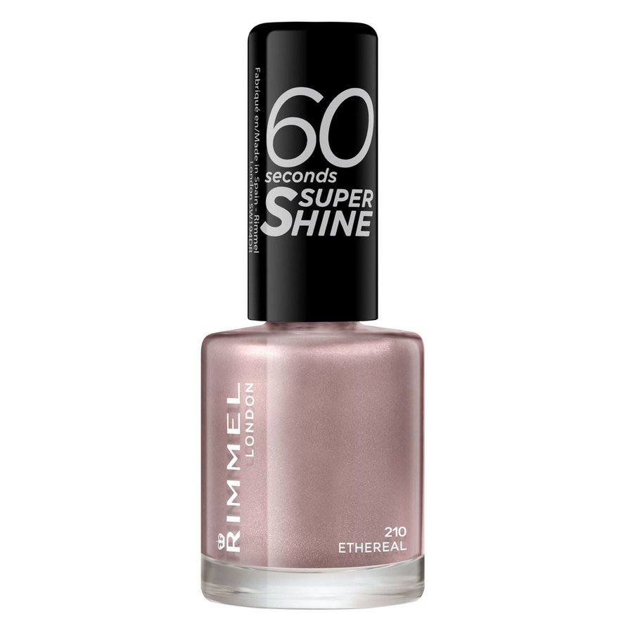 Rimmel London 60 Seconds Super Shine Nail Polish 8 ml ─ #210 Ethereal Nude