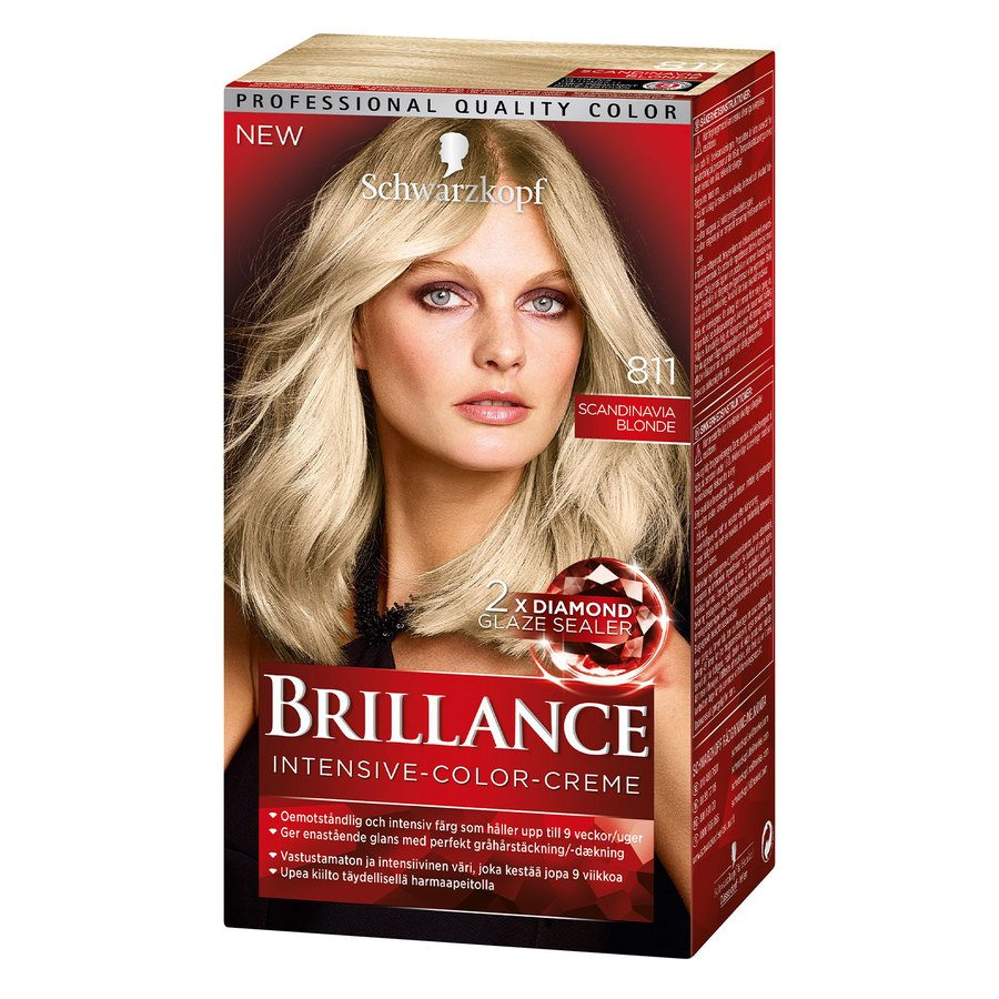 Schwarzkopf Brillance Intensive Color Creme ─ 811 Scan Blond