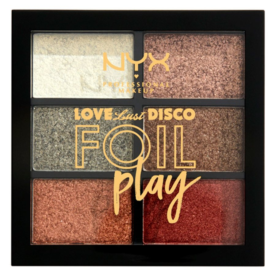 NYX Professional Makeup Love Lust Disco Foil Play Pigment Palette Get Down 6x1,5g