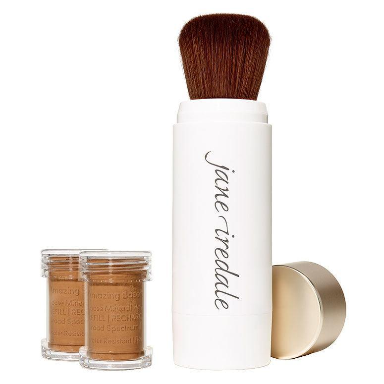Jane Iredale Amazing Base Refillable Brush 2 x Refills – Velvet