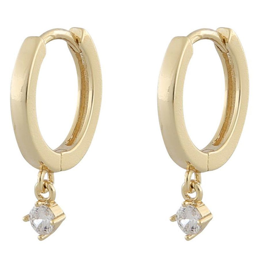 Snö Of Sweden Camille Small Ring Earring ─ Gold/Clear