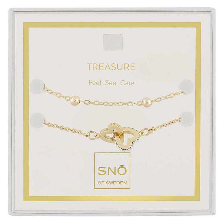 Snö Of Sweden Valentine Treasure Bracelet Set – Gold/Clear
