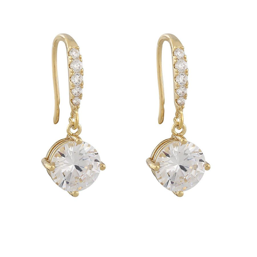 Snö Of Sweden Luire Stone Pendant Earring ─ Gold/Clear