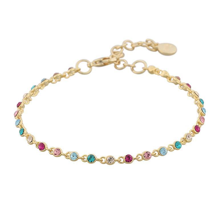 Snö Of Sweden Stine Small Bracelet 16–17 cm ─ Gold/Mix Cerise