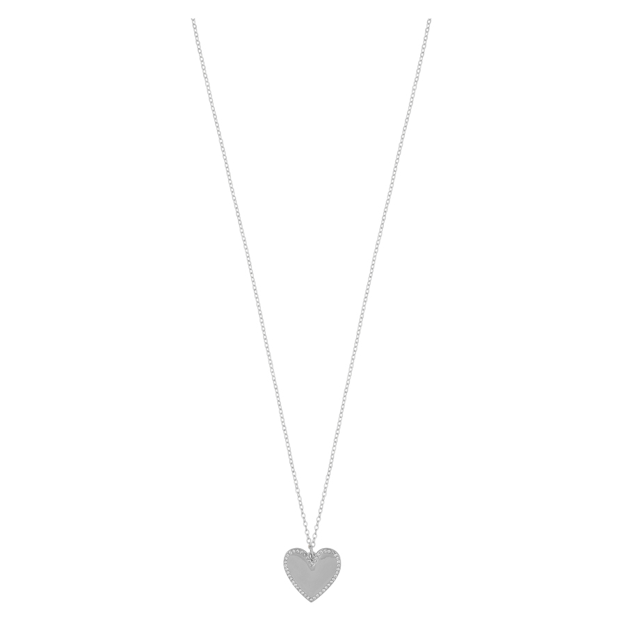 Snö of Sweden Mii Stone Pendant Necklace 42cm Silver/Clear