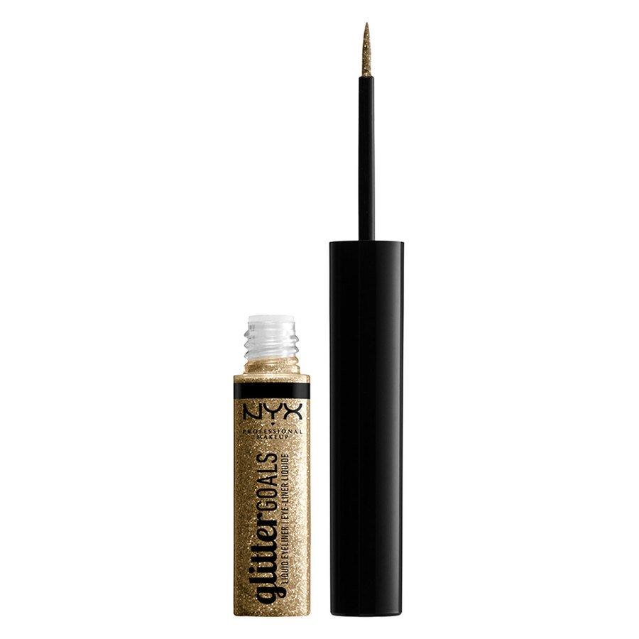 NYX Professional Makeup Glitter Goals Liquid Eyeliner Golden 4ml