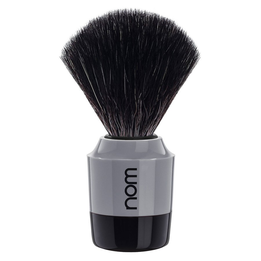 Nom Marten Shaving Brush Black Fibre ─ Black Grey