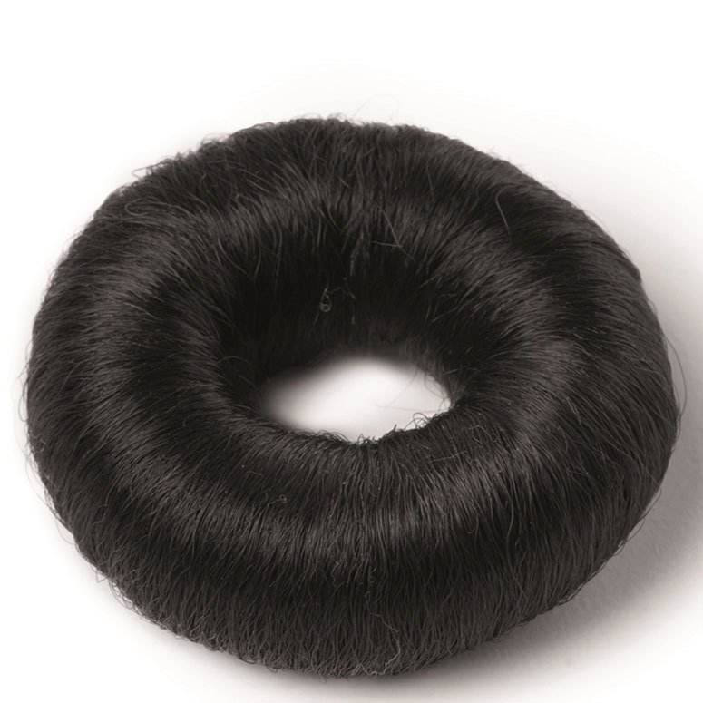 Hair Accessories Synthetic Hair Bun Small 73 mm ─ Black