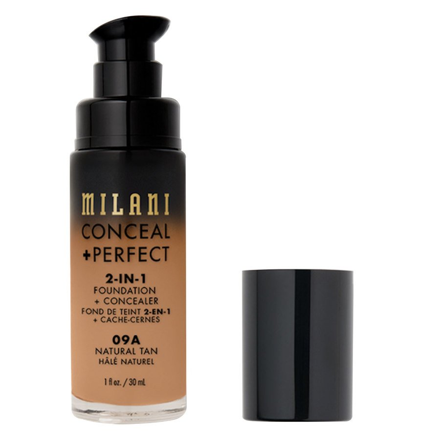 Milani Cosmetics Conceal+ Perfect 2-In-1 Foundation + Concealer 30 ml ─ Natural Tan