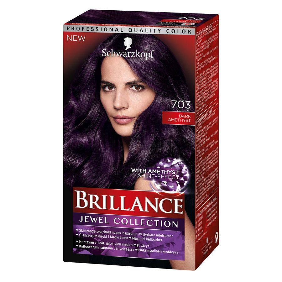 Schwarzkopf Brillance Intensive Color Creme ─ 703 Dark Amethyst