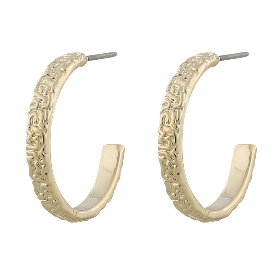 Snö Of Sweden Day Small Ring Earring Plain ─ Gold