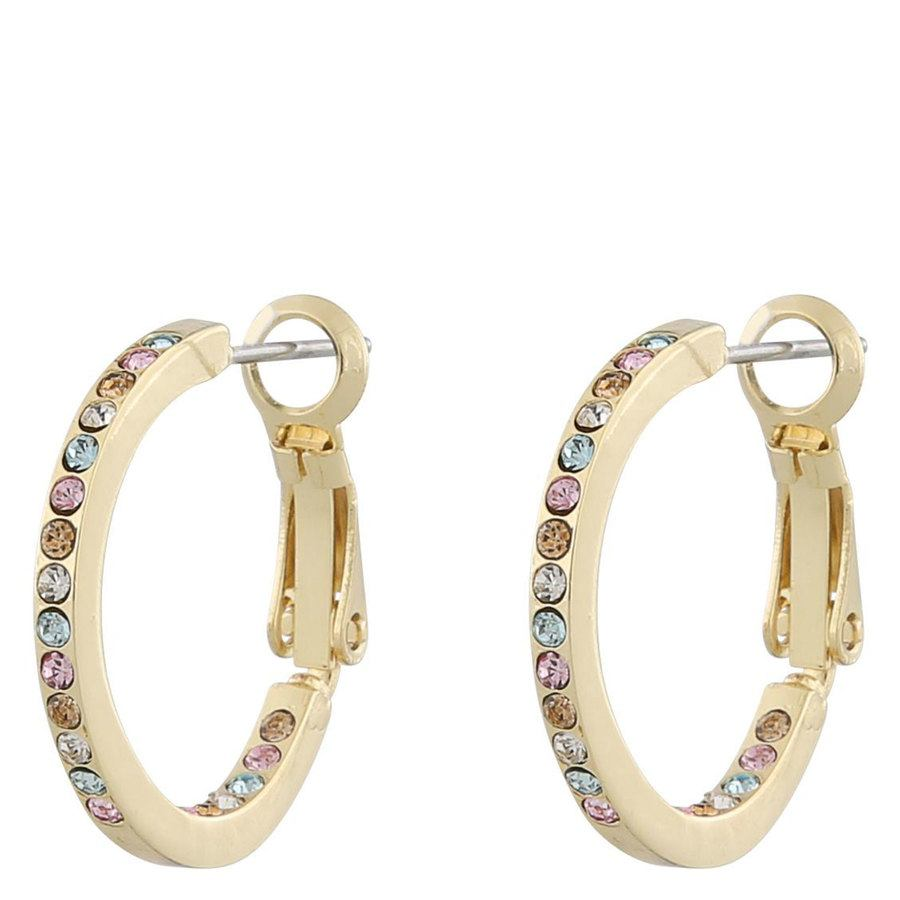 Snö Of Sweden Lindsey Small Ring Earring ─ Gold/Pink Mix