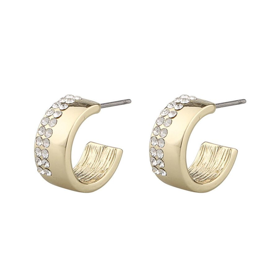 Snö Of Sweden Marseille Small Oval Earring – Gold/Clear