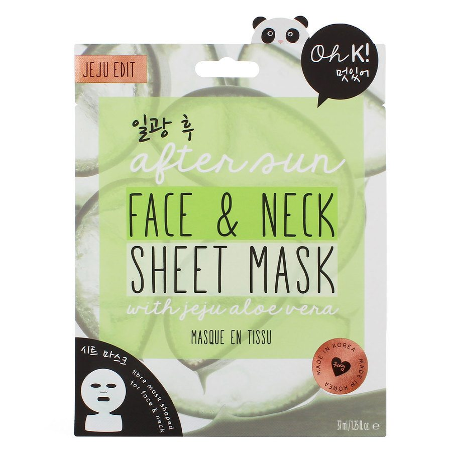 Oh K! After Sun Aloe Face And Neck Sheet Mask 37ml