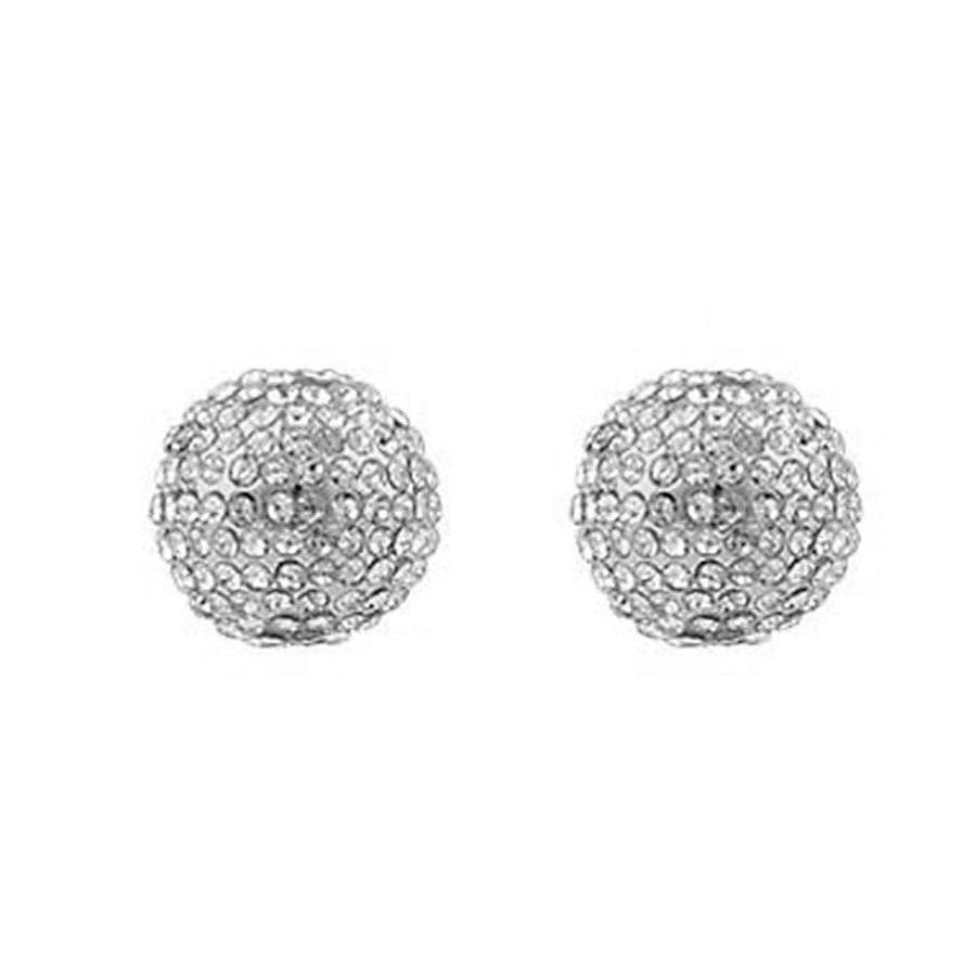 Snö of Sweden Zin Small Earring – Silver/Clear