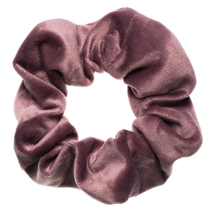 DARK Velvet Scrunchie ─ Dusty Grape