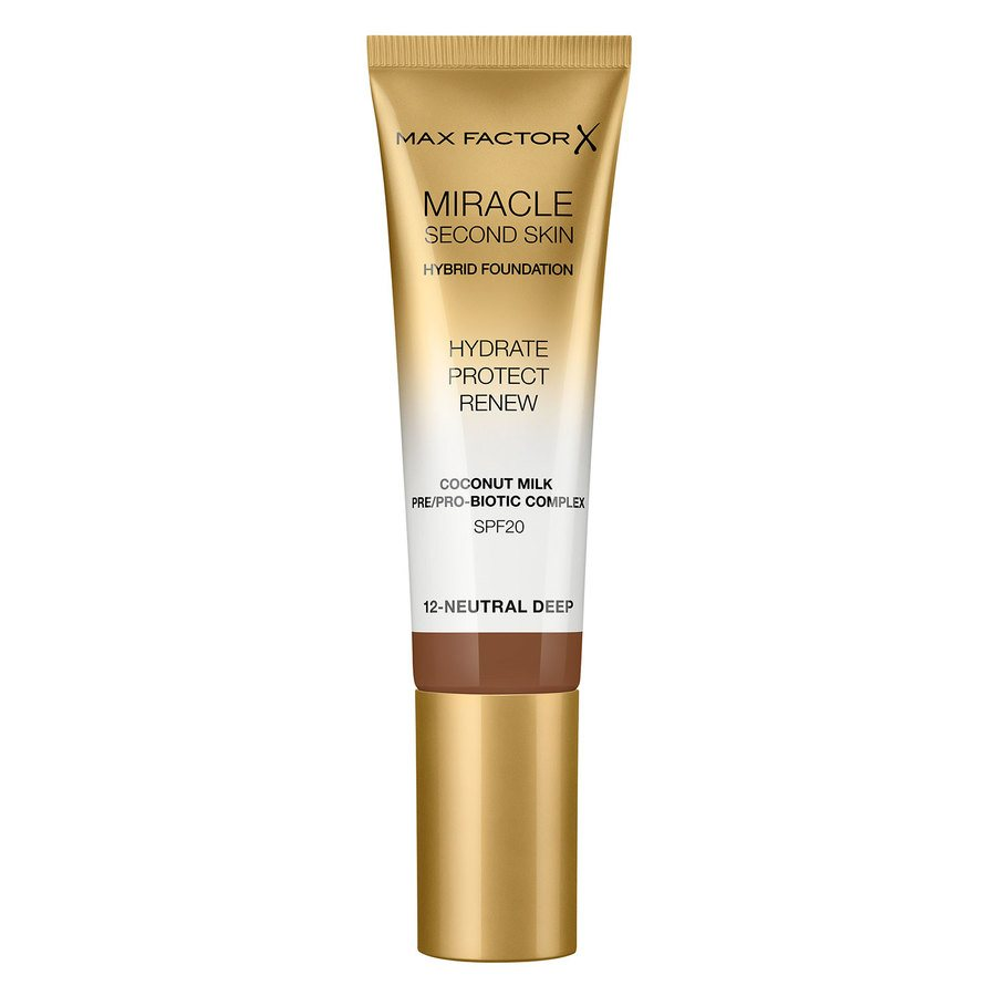 Max Factor Miracle Second Skin Foundation 33 ml ─ #012 Neutral Deep