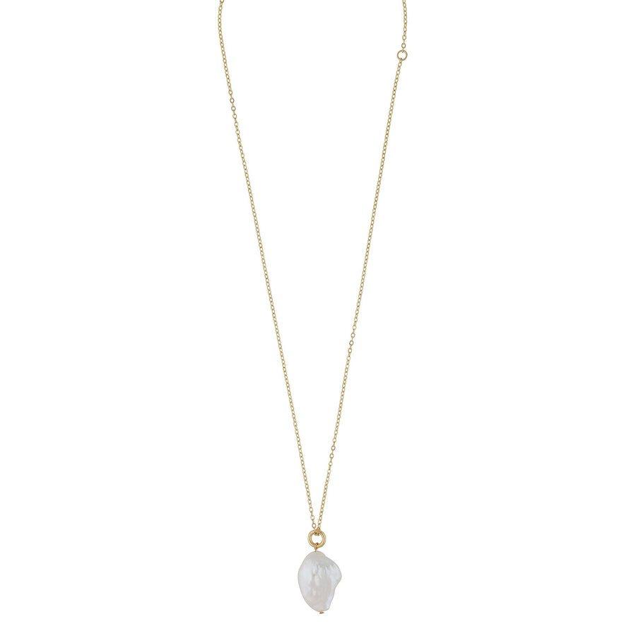 Snö Of Sweden Maxime Pendant Necklace Gold/White 48cm