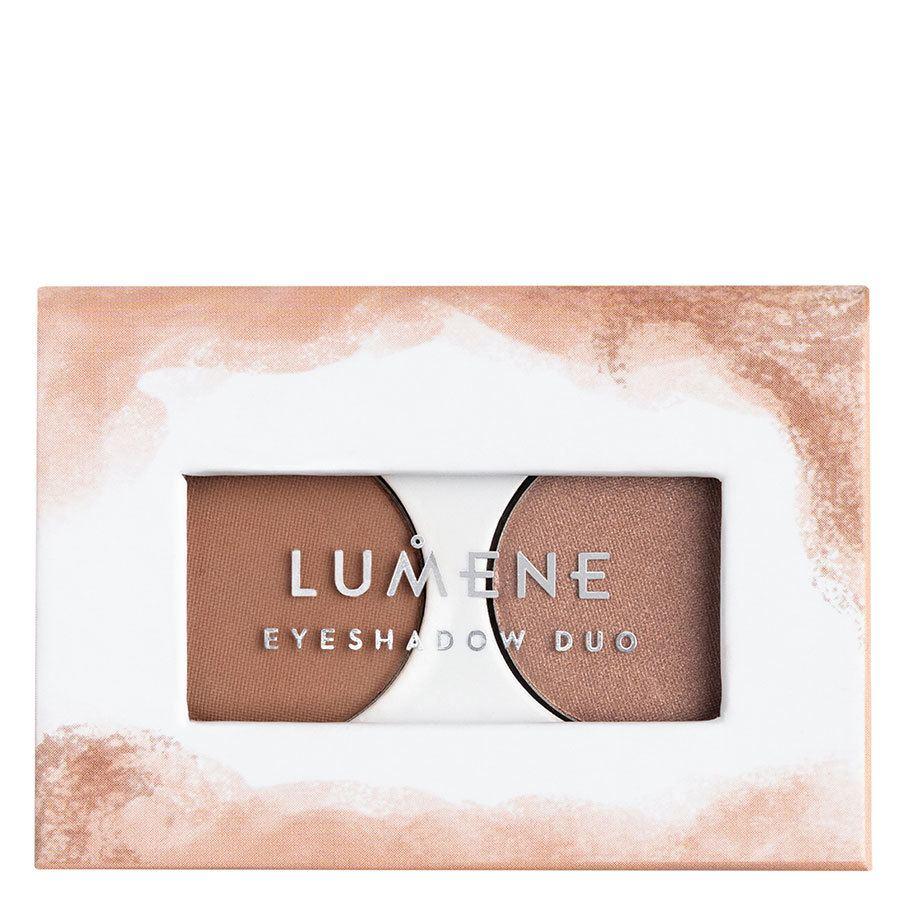 Lumene Bright Eyes Eyeshadow Duo 3,2 g ─ 2 Earthy Nudes
