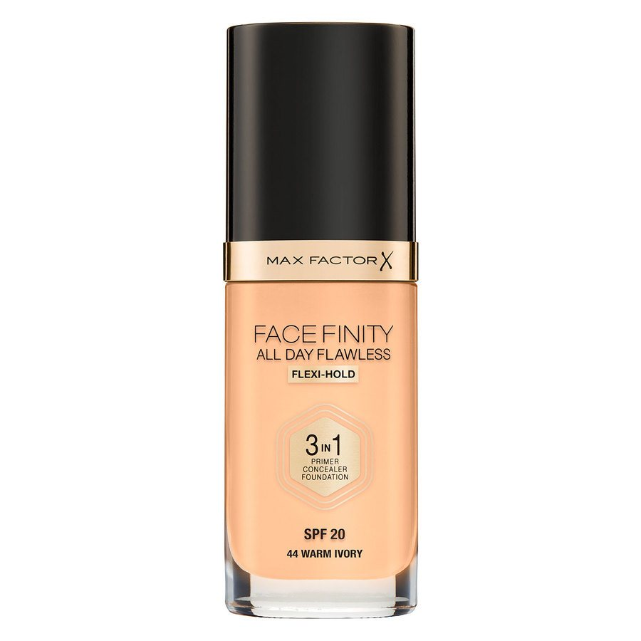 Max Factor Facefinity All Day Flawless 3-in-1 Foundation 30 ml – 44 Warm Ivory
