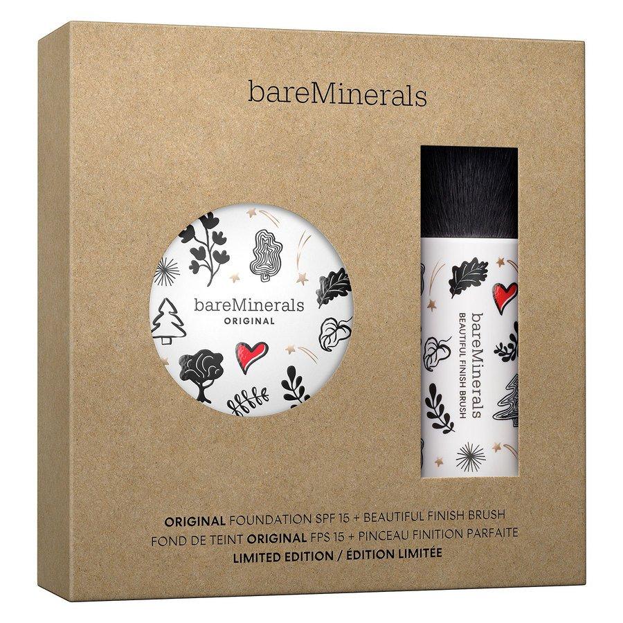 bareMinerals Deluxe Original Foundation SPF 15 & Beautiful Finish Brush Kit – Fairly Light