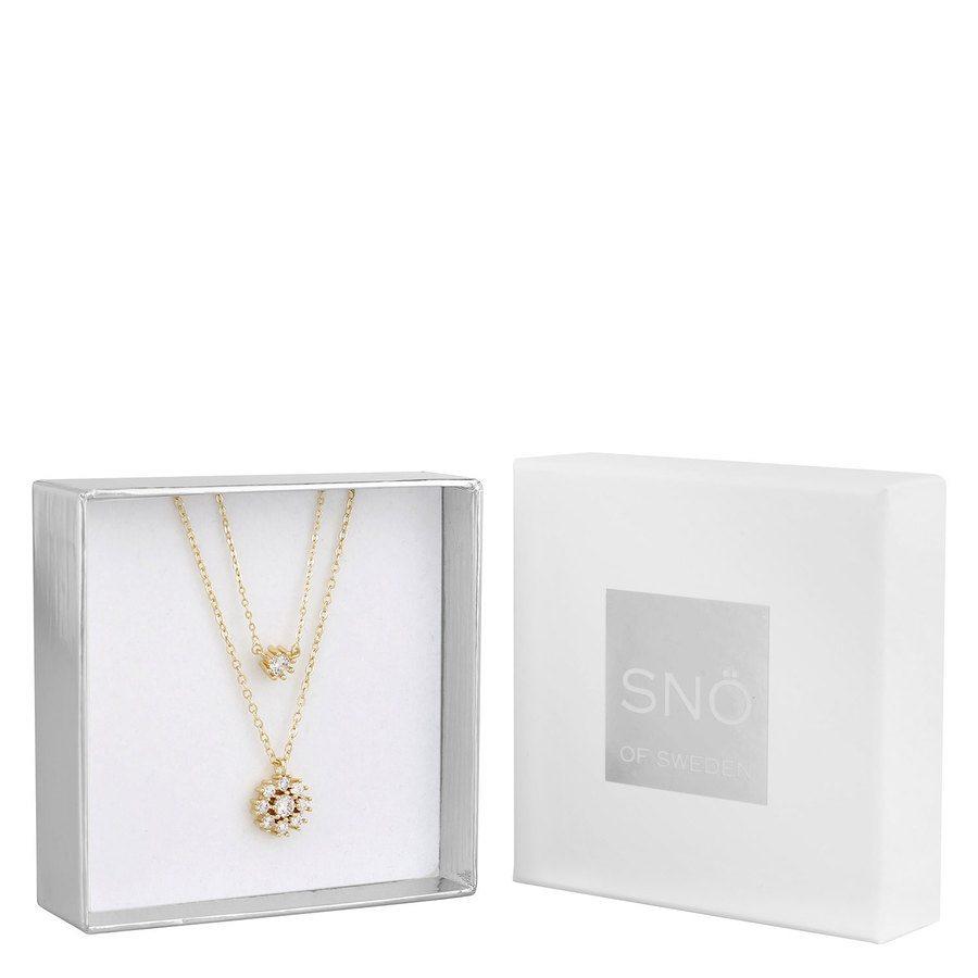 SNÖ of Sweden Crystal Vintage Necklace Set 1 - Gold/Clear
