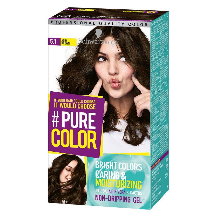 Schwarzkopf Pure Color 142 g ─ 5.1 Ashy Brown