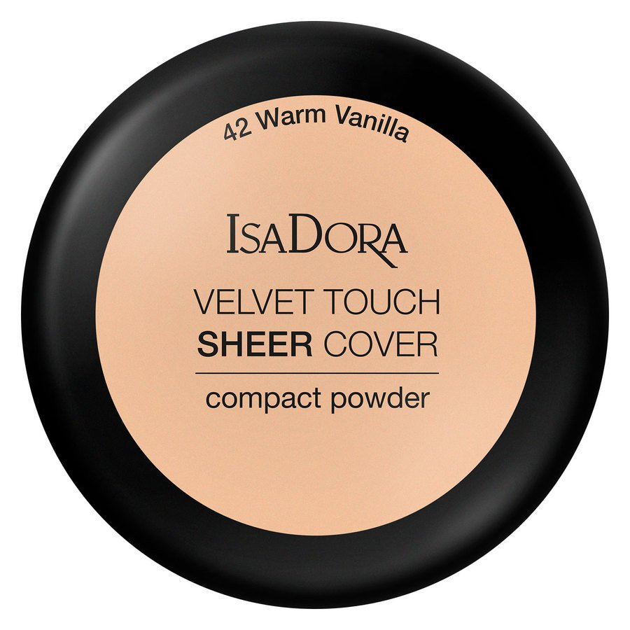IsaDora Velvet Touch Sheer Cover Compact Powder 42 Warm Vanilla 10g