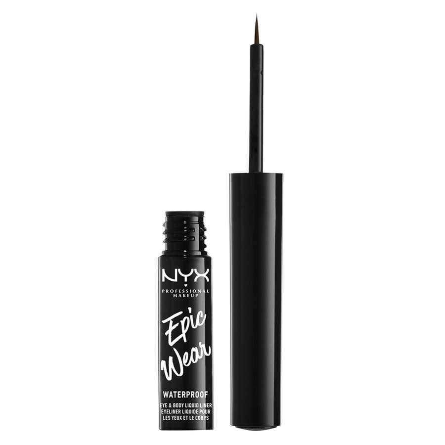 NYX Professional Makeup Epic Wear Semi Permanent Eye & Body Liquid Liner 1 ml – Brown