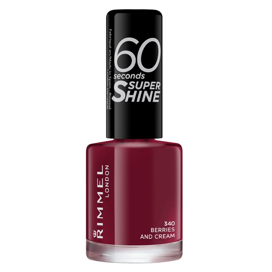 Rimmel London 60 Seconds Super Shine Nail Polish 8 ml ─ #340 Berries and Cream