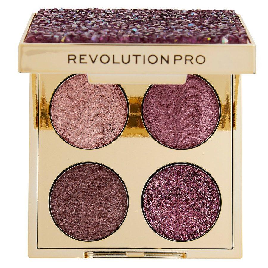 Makeup Revolution Pro Ultimate Crystal Eye Quad Pink Topaz 4 x 0,8 g
